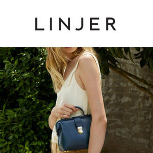 **SOLD** Linjer Doctor's Bag Navy Italian Leather